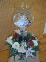A fishy affair - just the flower arrangement the bride and groom ordered