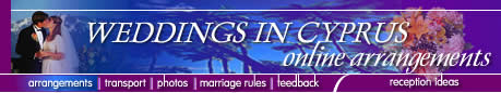 Cyprus weddings - get married on the island of Aphrodite - honeymoons - flowers - photo's - videos - wedding cars and much more