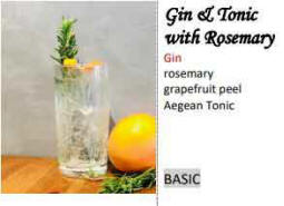 gin and tonic with rosemary - cool, long and refreshing