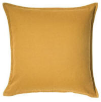 Cushion hire in Cyprus - yellow gold 50 x 50 cushion - cotton outer