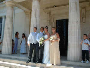 Laura's wedding in Paphos Cyprus - what a lovely couple.
