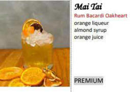 mai Tai in your own portable bar in Cyprus - cocktails galore -