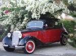 Almost a gangster - make a stunning entrance with this Mercedes Benz to your wedding in yprus.
