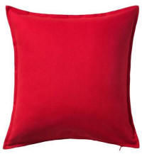 Cushion hire in Cyprus - red 50 x 50 cushion - cotton outer
