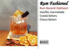 coctails in Cyprus - old fashioned rum