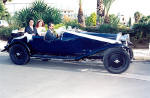 An Aston Martin vintage car available for weddings in Cyprus